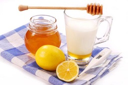 мед лимон и молоко